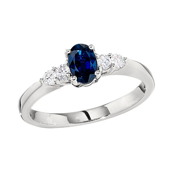 Sapphire and Diamond Ring DJ's Jewelry Woodland, CA
