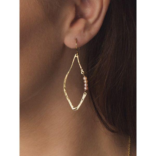 Emily Gold Earrings Image 2 DJ's Jewelry Woodland, CA