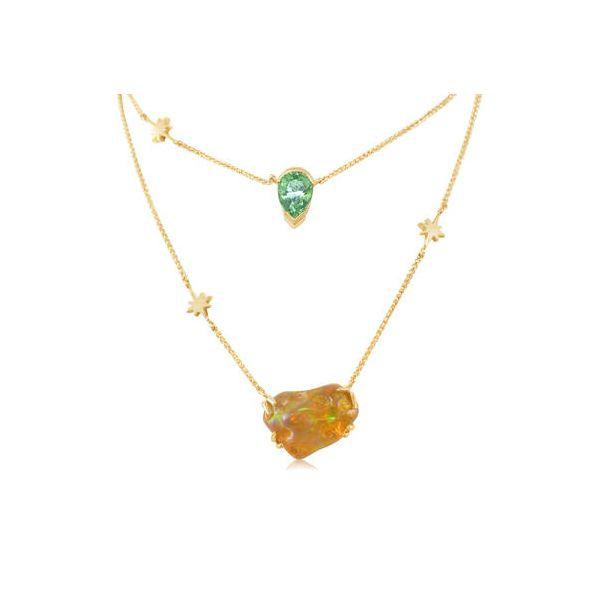 Fire Opal & Garnet Necklace DJ's Jewelry Woodland, CA