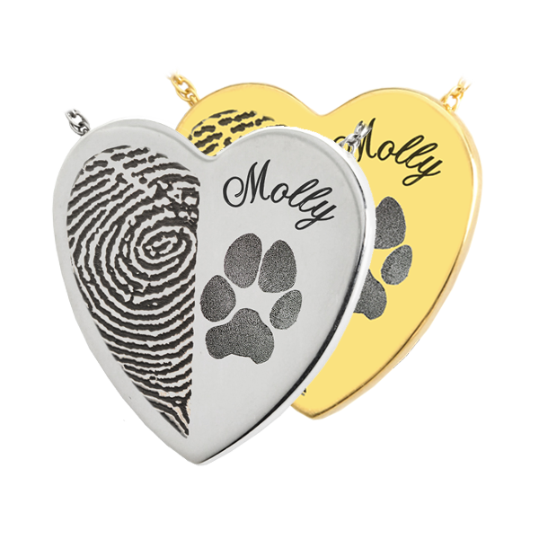 Pet Paw Print Heart DJ's Jewelry Woodland, CA