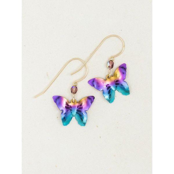 Rainbow Butterfly Dangle Earrings DJ's Jewelry Woodland, CA