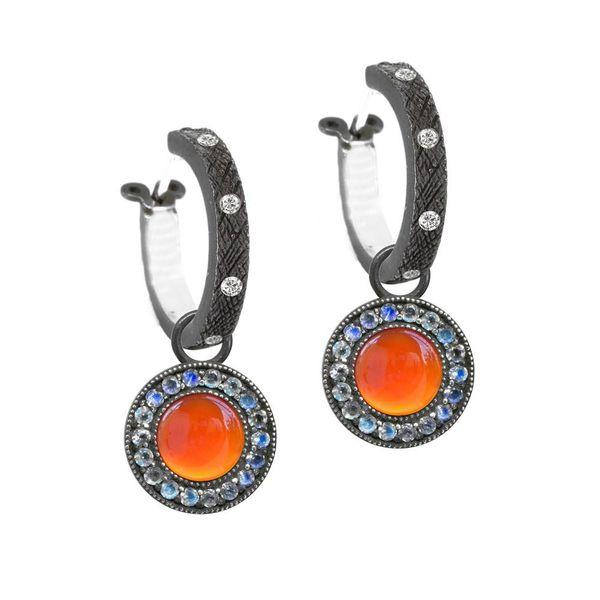 Carnelian and Moonstone Orbit Jackets Image 2 DJ's Jewelry Woodland, CA