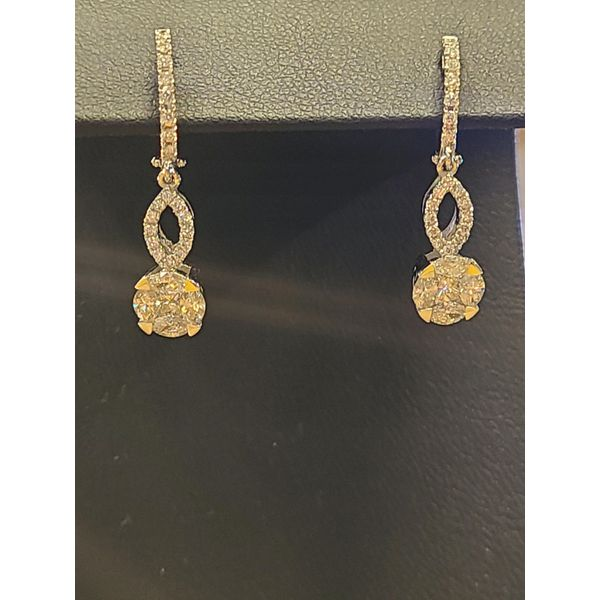Diamond Hoops, With Dangles DJ's Jewelry Woodland, CA