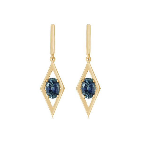 Montana Sapphire Earrings DJ's Jewelry Woodland, CA