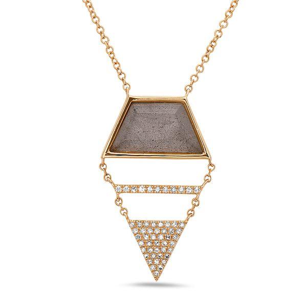 Labradorite and Diamond Necklace DJ's Jewelry Woodland, CA