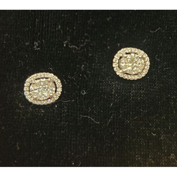 Oval Diamond Cluster Earrings DJ's Jewelry Woodland, CA