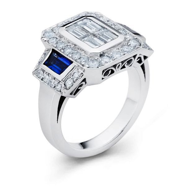 Sapphire and Diamond Ring DJ's Jewelry Woodland, CA