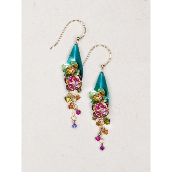 Double Orchid Dangle Earrings DJ's Jewelry Woodland, CA