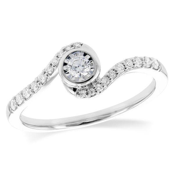 Swirl Illusion Design Engagement ring DJ's Jewelry Woodland, CA