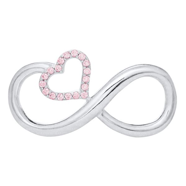 Infinity Loop With Pink Heart Charm / Clasp DJ's Jewelry Woodland, CA