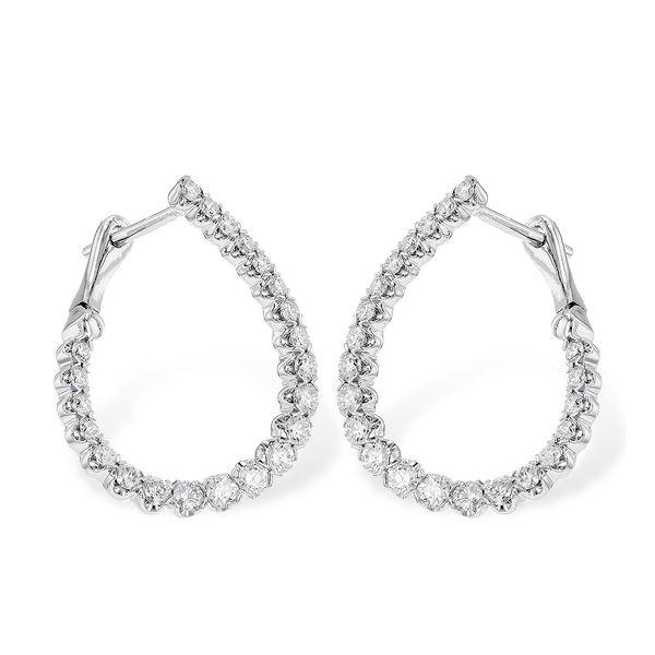 Diamond Hoop Earrings DJ's Jewelry Woodland, CA