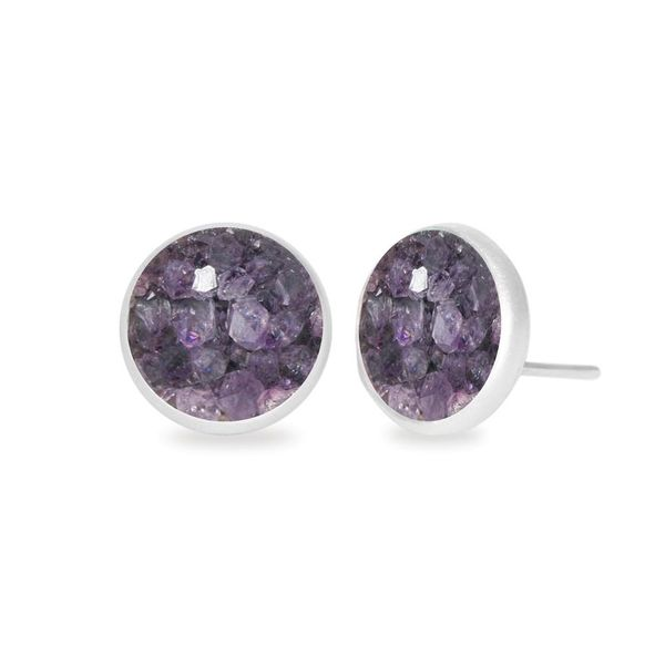 Purple Druzy Earring DJ's Jewelry Woodland, CA