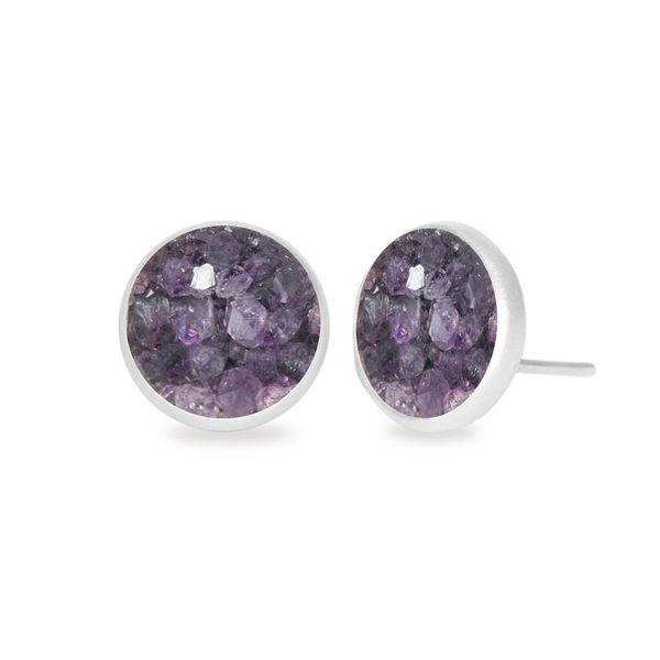 Purple Druzy Earring DJ's Jewelry Woodland, CA