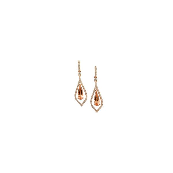 Morganite and Diamond Earrings DJ's Jewelry Woodland, CA