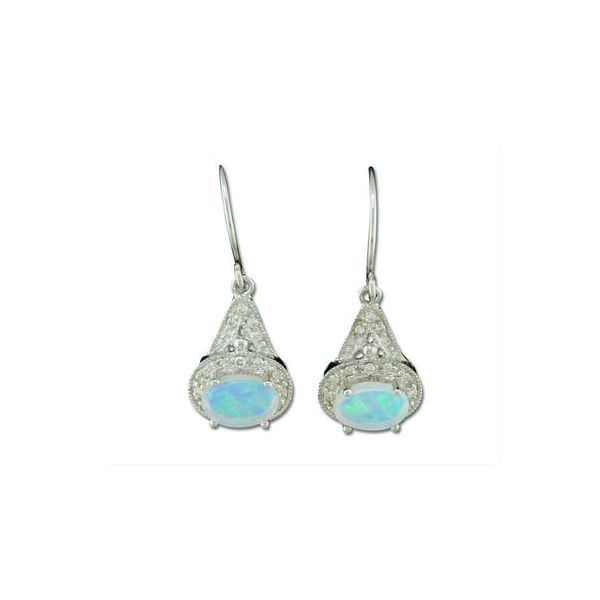 Opal and Diamond Earrings DJ's Jewelry Woodland, CA