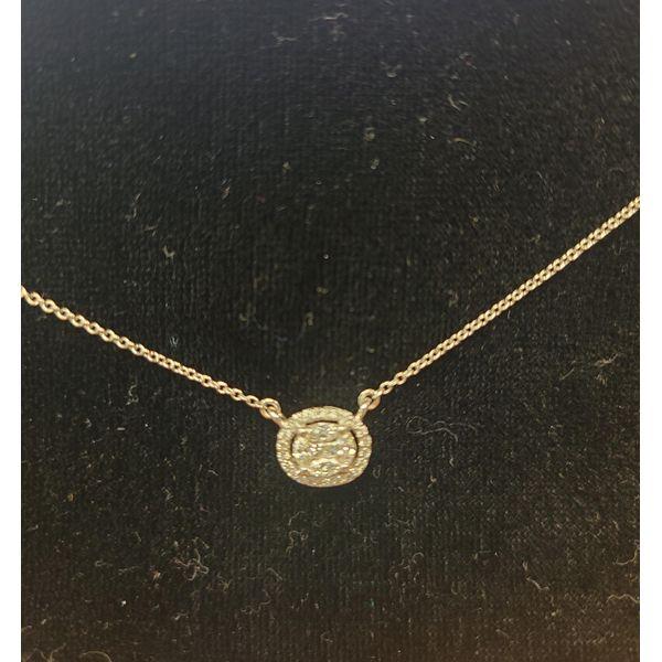 Diamond Cluster Necklace DJ's Jewelry Woodland, CA
