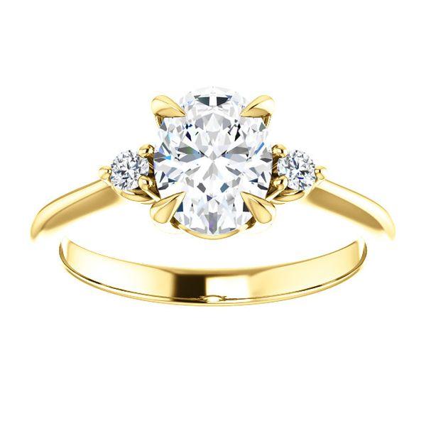 14kt Yellow Gold Oval Diamond Engagement Don's Jewelry & Design Washington, IA
