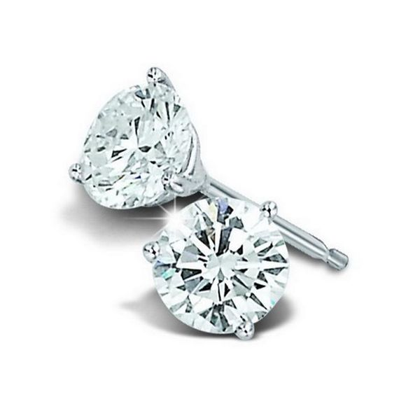 14kt White Gold Diamond Stud Earrings Don's Jewelry & Design Washington, IA