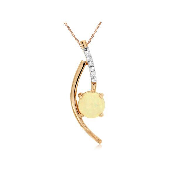 Opal and Diamond Necklace Don's Jewelry & Design Washington, IA
