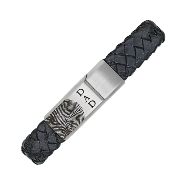Personalized Leather and Stainless Steel Bracelet Don's Jewelry & Design Washington, IA