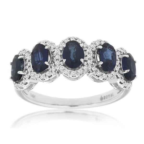 14kt White Gold Sapphire and Diamond Ring Don's Jewelry & Design Washington, IA