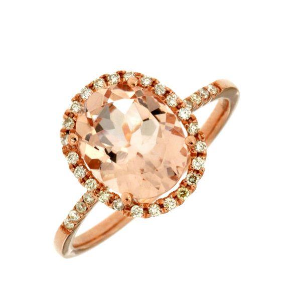14kt Rose Gold Morganite and Diamond Ring Don's Jewelry & Design Washington, IA