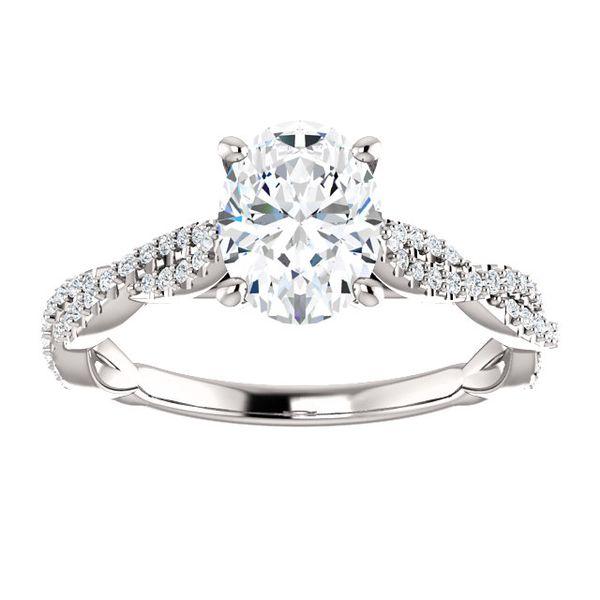 14kt White Gold Infinity Style Engagement Ring Don's Jewelry & Design Washington, IA