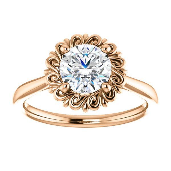 14kt Rose Gold Diamond Engagement Ring Don's Jewelry & Design Washington, IA
