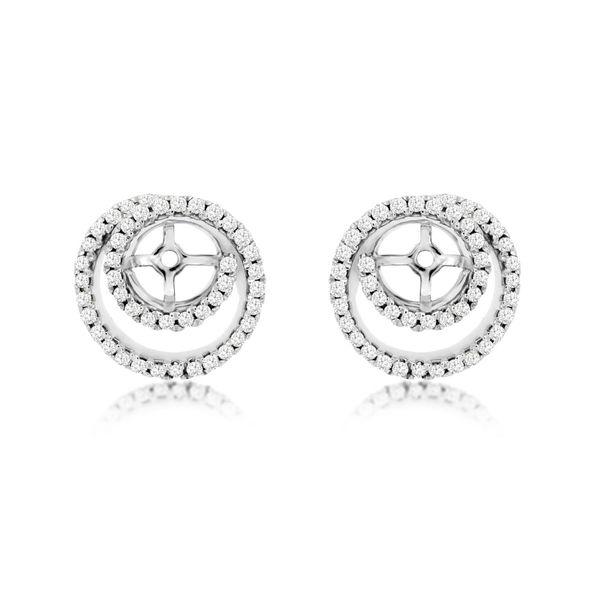 14kt White Gold Diamond Earring Jackets Don's Jewelry & Design Washington, IA