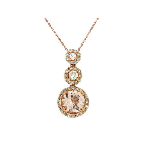 Morganite and Diamond Necklace Don's Jewelry & Design Washington, IA