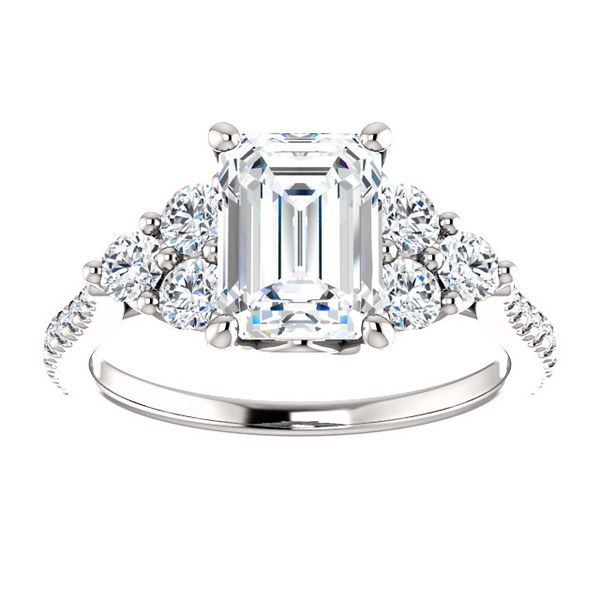 14kt White Gold Emerald Cut Diamond Engagement Ring Don's Jewelry & Design Washington, IA