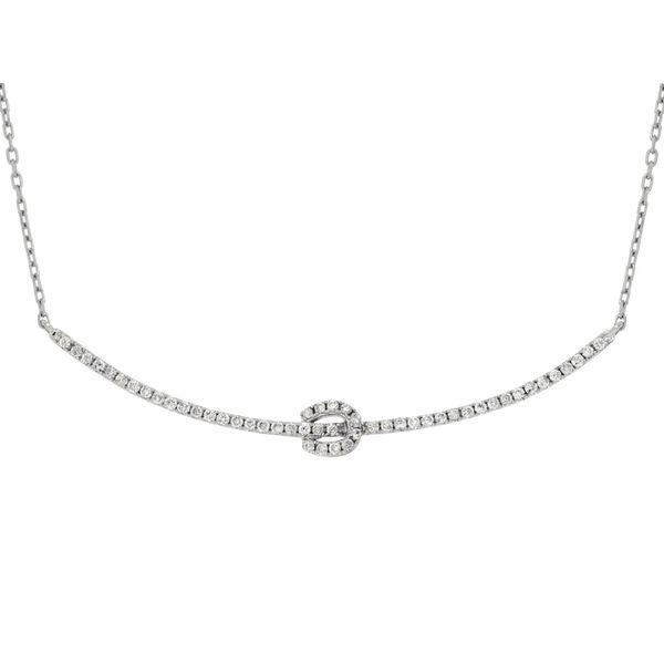 14kt White Gold Diamond Bar Necklace Don's Jewelry & Design Washington, IA
