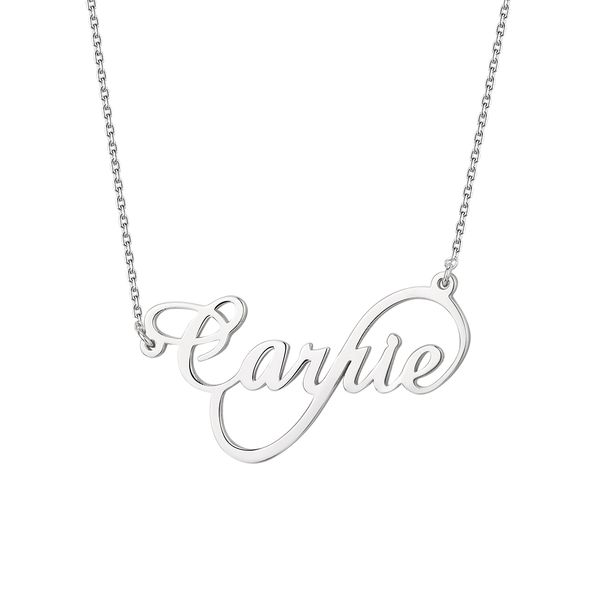 Sterling Silver Infinity Name Necklace Don's Jewelry & Design Washington, IA