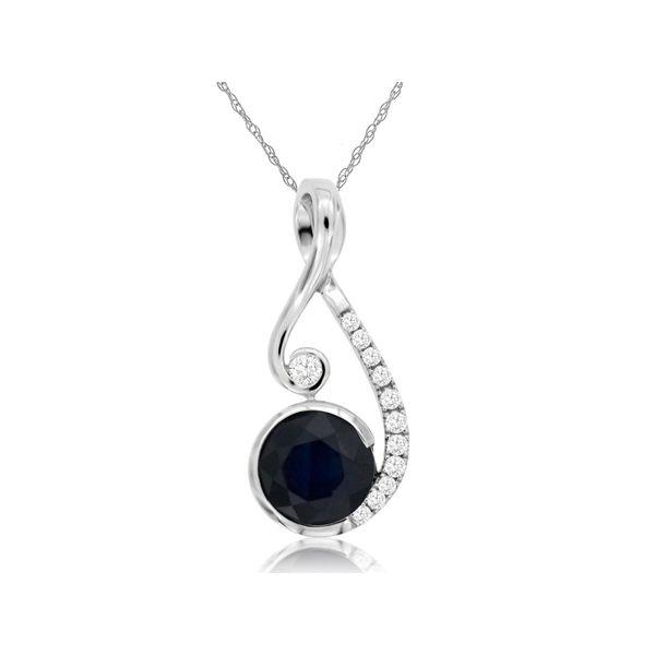 14kt White Gold Sapphire and Diamond Necklace Don's Jewelry & Design Washington, IA