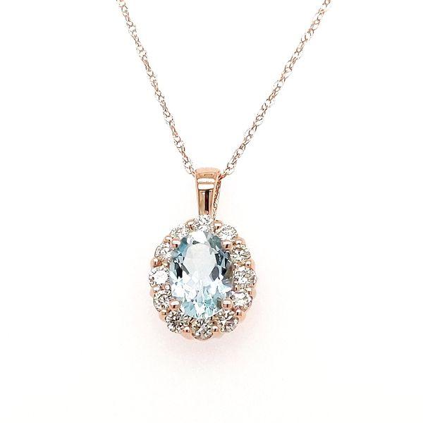 Aquamarine and Diamond Necklace Don's Jewelry & Design Washington, IA