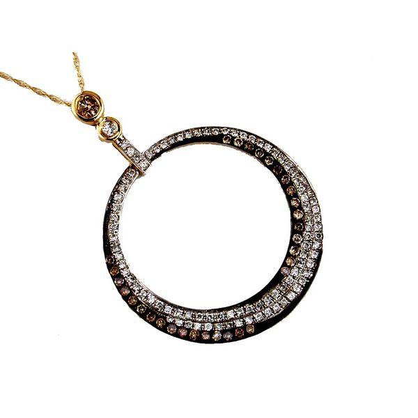 14kt Yellow Gold Mocha and White Diamond Necklace Don's Jewelry & Design Washington, IA