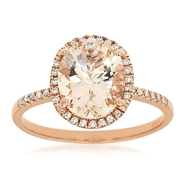 Morganite and Diamond Ring Don's Jewelry & Design Washington, IA
