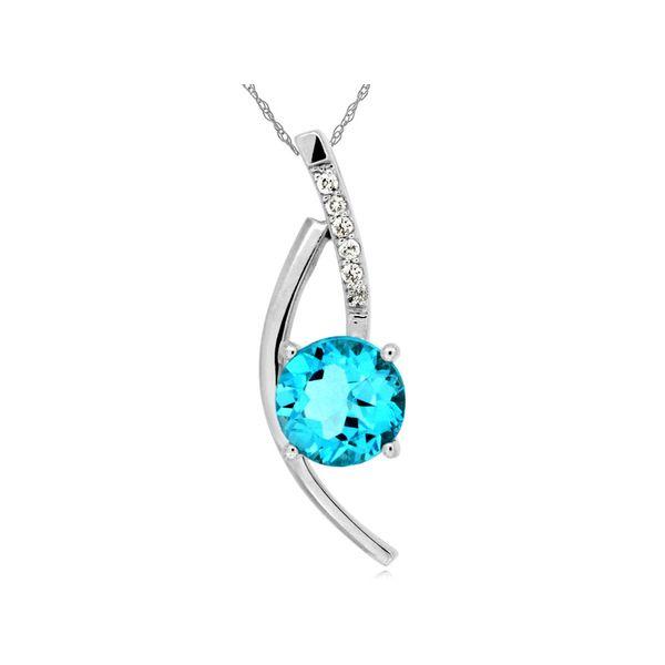 Blue Topaz and Diamond Necklace Don's Jewelry & Design Washington, IA