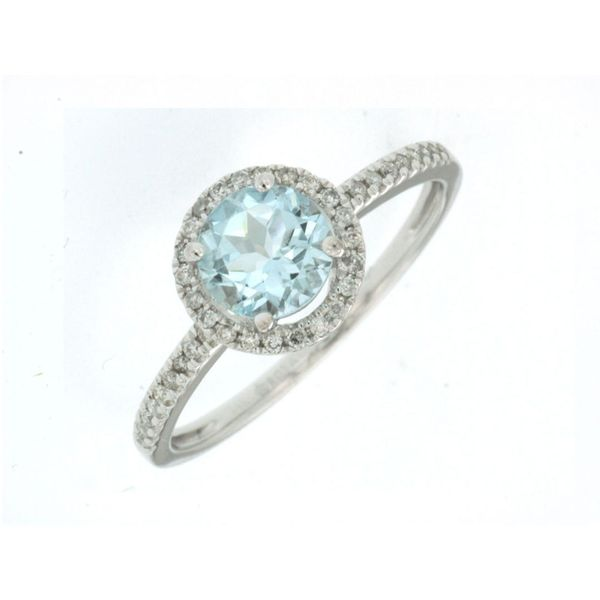 14kt White Gold Aquamarine and Diamond Ring Don's Jewelry & Design Washington, IA