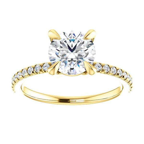 14kt Yellow Gold Diamond Engagement Ring Don's Jewelry & Design Washington, IA