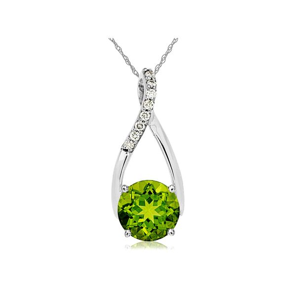 Peridot and Diamond Necklace Don's Jewelry & Design Washington, IA