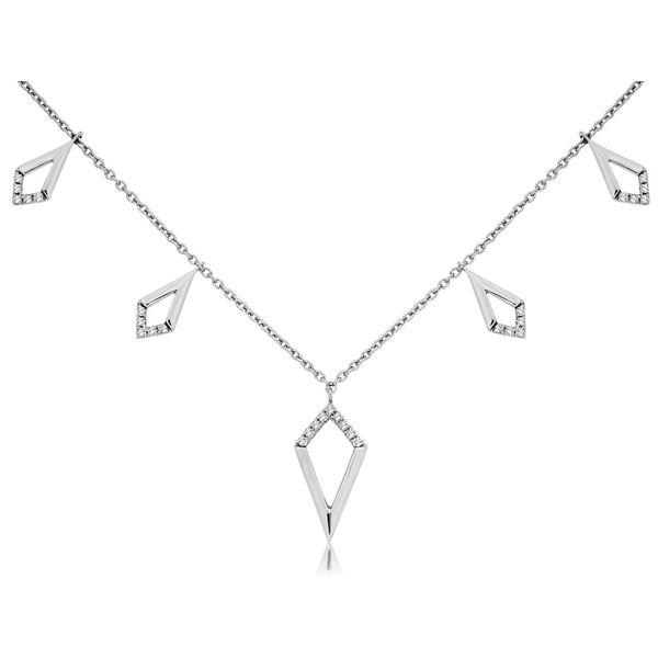 14kt White Gold Diamond Necklace Don's Jewelry & Design Washington, IA