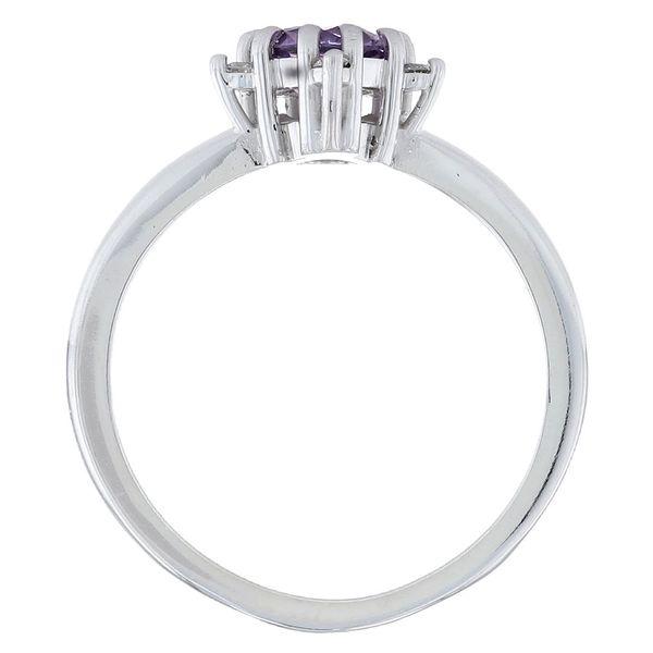 Purple Sapphire Star Engagement Ring