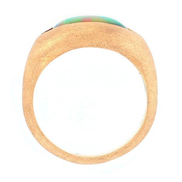 20k yellow gold ethiopian opal ring