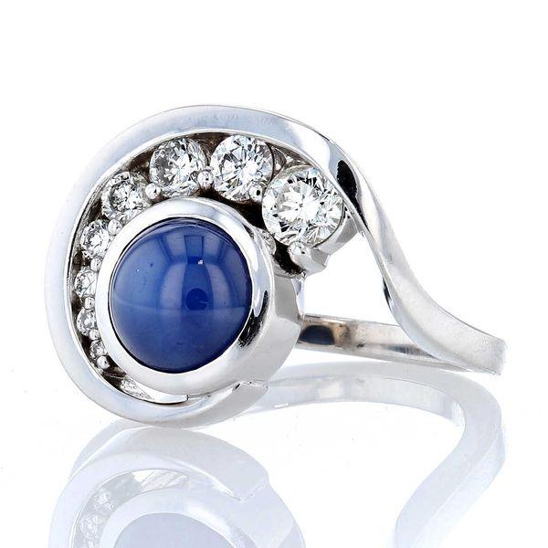Star Sapphire Swirl Ring