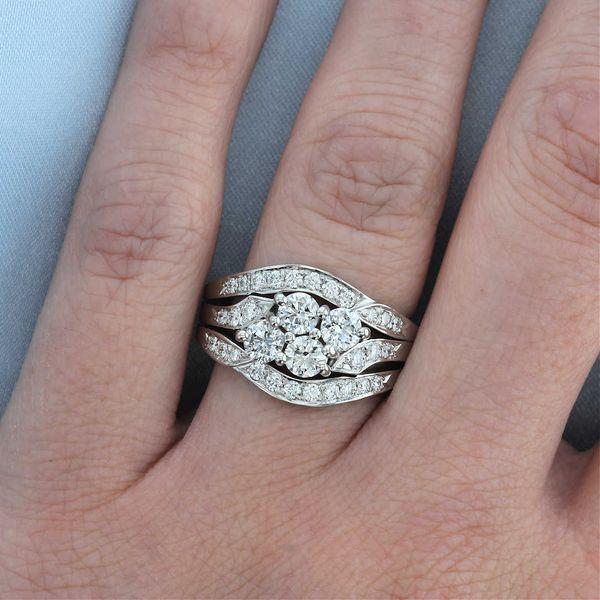 platinum diamond hearts and arrows wedding set