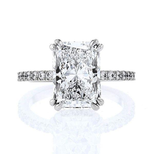 2.5ct radiant diamond ring d if hidden halo platinum