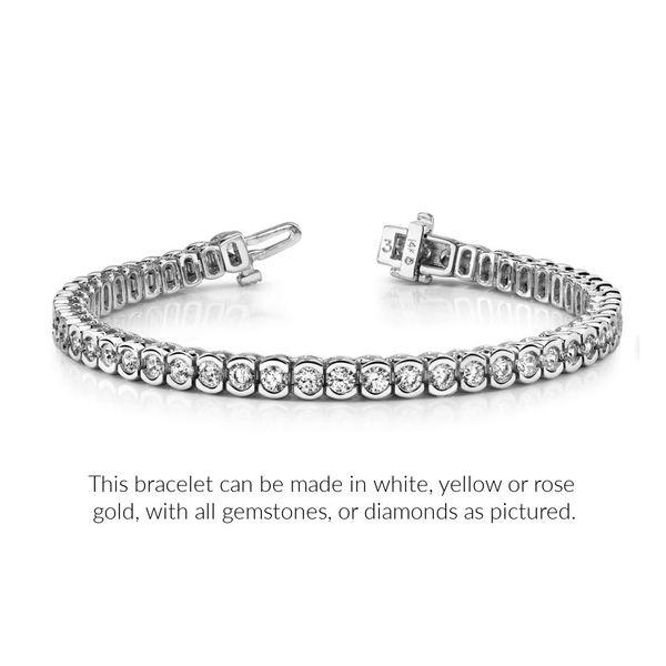 Partial-Bezel-set-diamond-tennis-bracelet