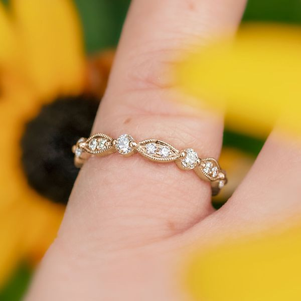 Marquise-and-round-diamond-stackable-ring