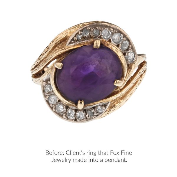 before-and-after-custom-ring-into-pendant-amethyst